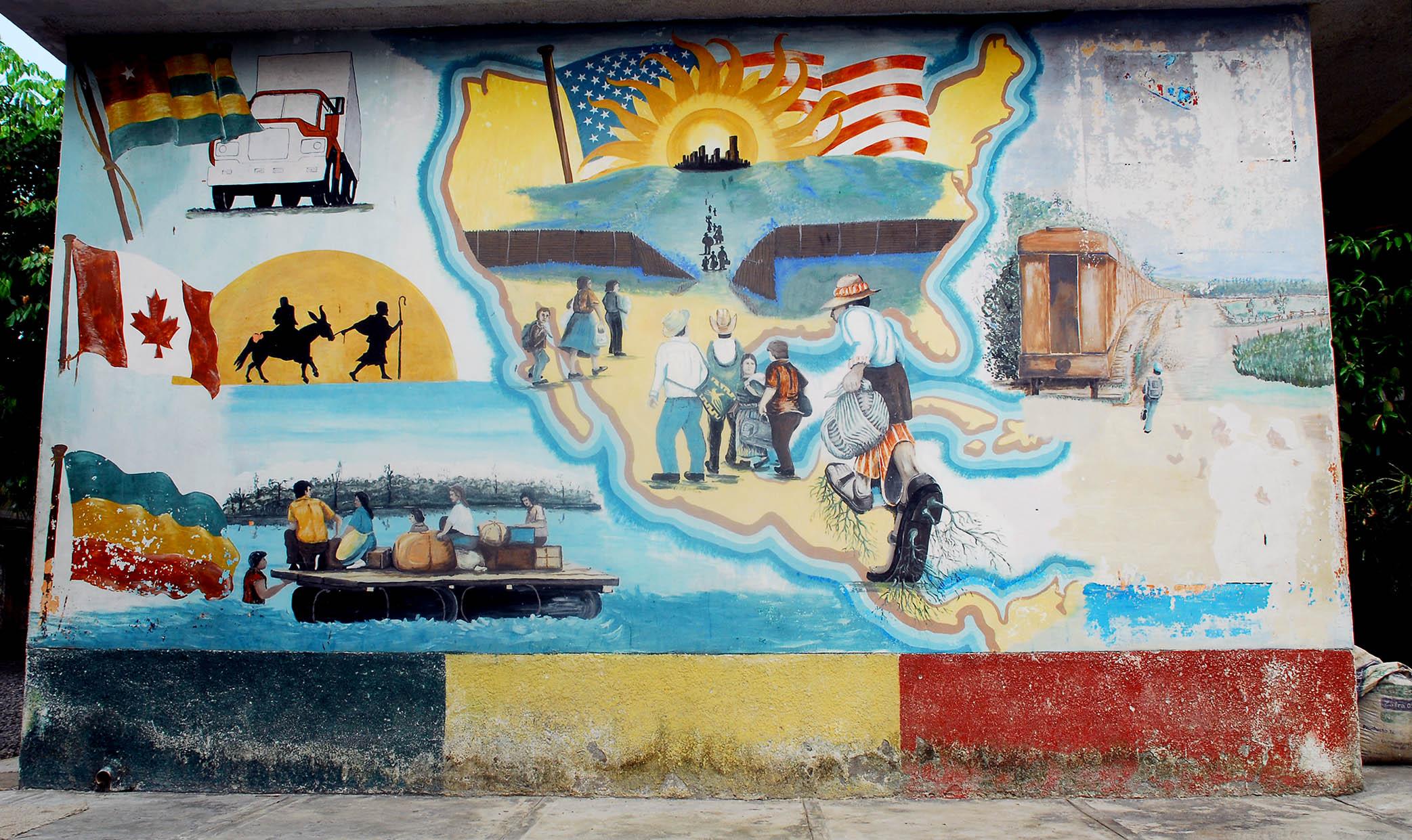 Mural subversiones for Mural de la casa del migrante